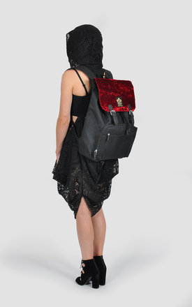 Velvet panel laptop backpack by The Left Bank