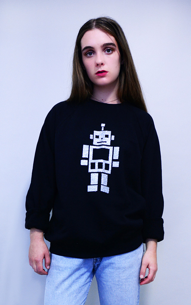 Glitter Robot Sweater by Tallulah's Threads