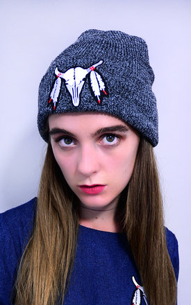 Buffalo Embroidery Patch Beanie by Tallulah's Threads