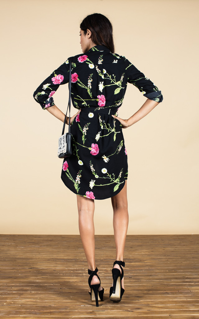 Mini Shirt Dress in Carnation and Daisy image