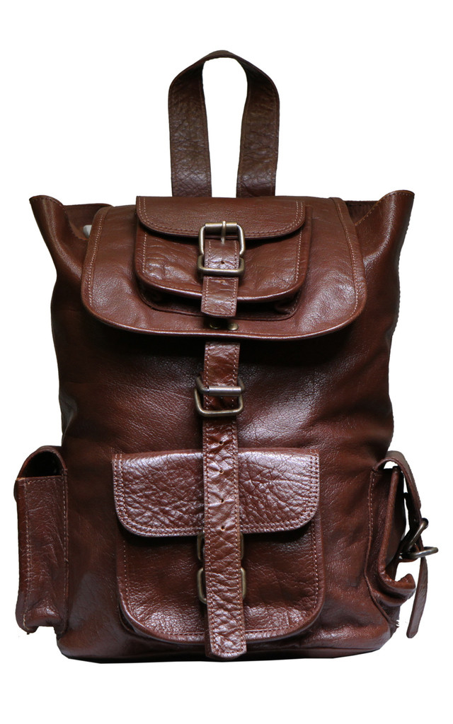 "Dark Tan 13"" Adair Backpack by VIPARO"