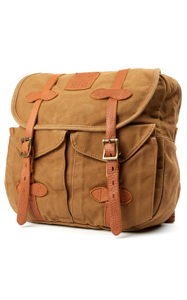Khaki Brown Jerome Backpack by VIPARO