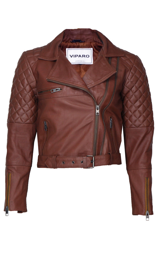 Brown Adrienne Jacket by VIPARO