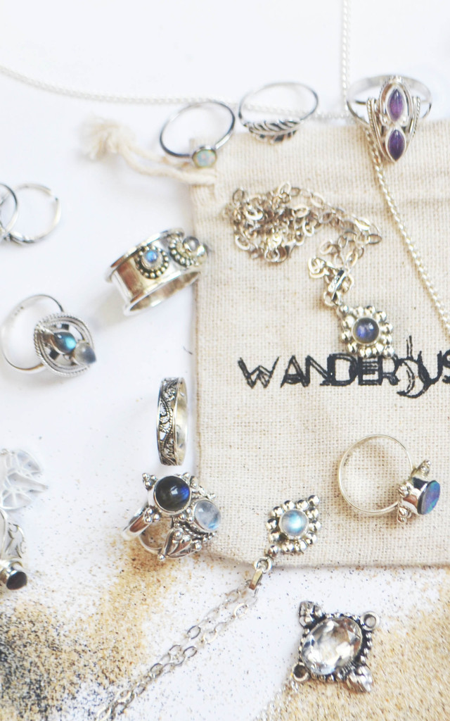 Astral Labradorite Sterling Silver Necklace by Wanderdusk