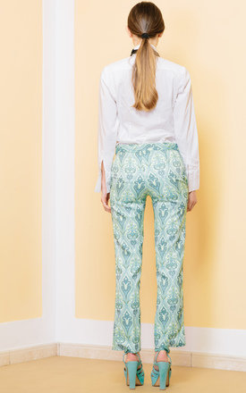 Stuck On Reply Brocade Trousers by KITES AND BITES