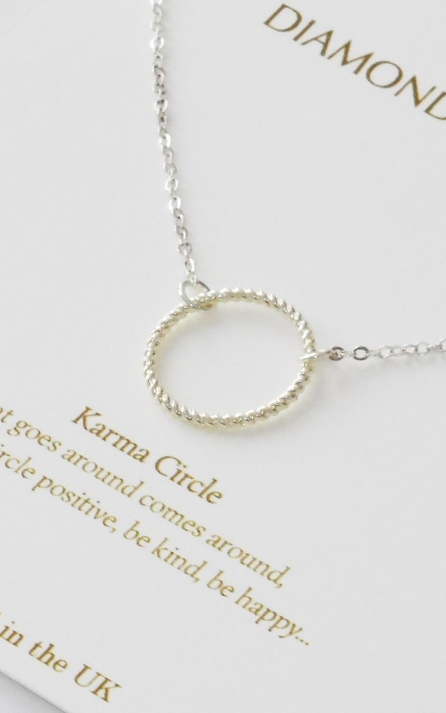 Silver Karma Necklace Gift Card by Diamond in The Sky