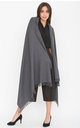 Kasa Oversized Merino Wool Scarf in Charcoal Grey by likemary