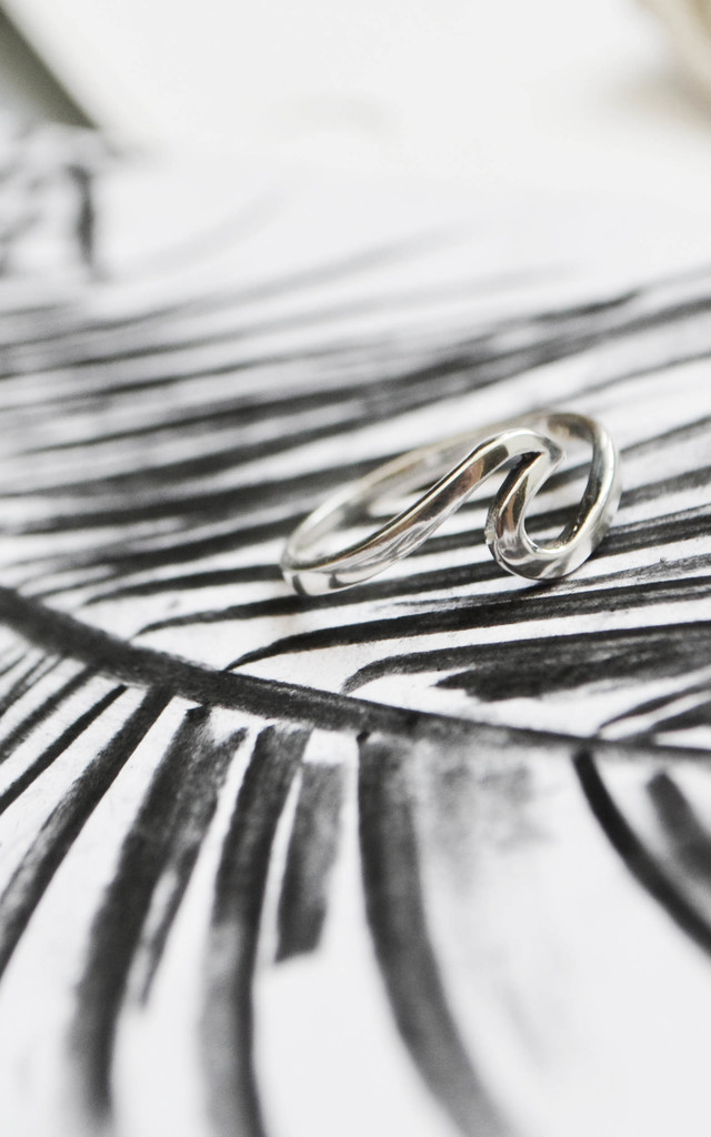 Crash Sterling Silver Bohemian Wave Ring by Wanderdusk