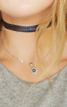Midnight Sequin Choker Necklace by Wanderdusk