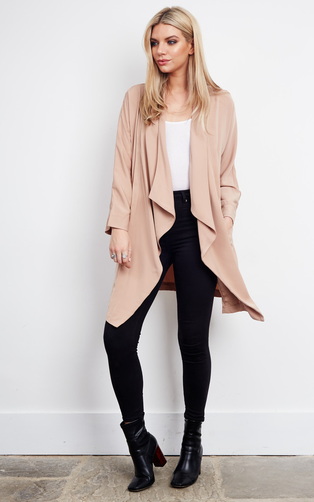 NUDE WATERFALL LONG SLEEVE JACKET by Parallel Lines