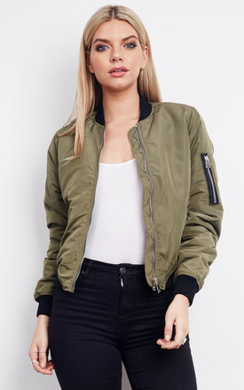 SHORT BOMBER JACKET IVY GREEN by VM