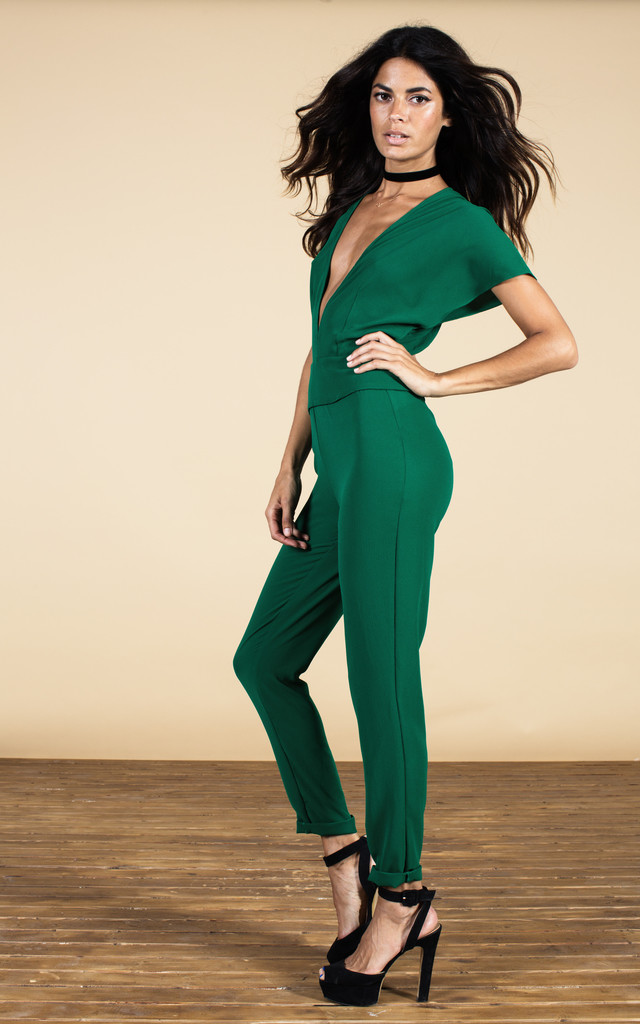 Venus Jumpsuit in Forest Green image