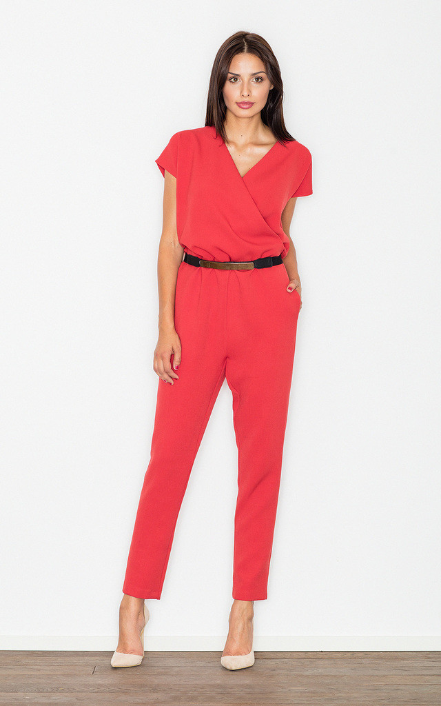 Red elegant jumpsuit by FIGL