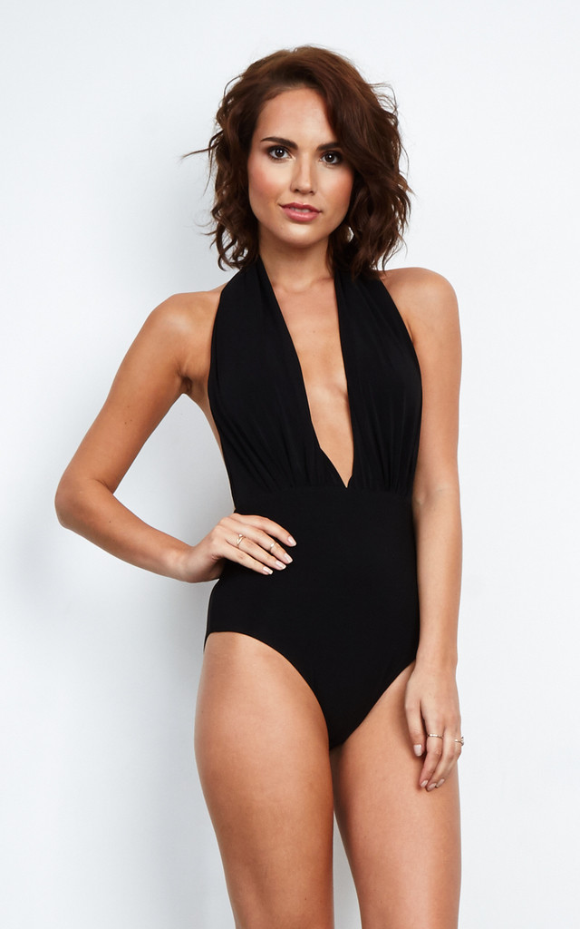 Black Halterneck Bodysuit. By Love a7aa7e2a1