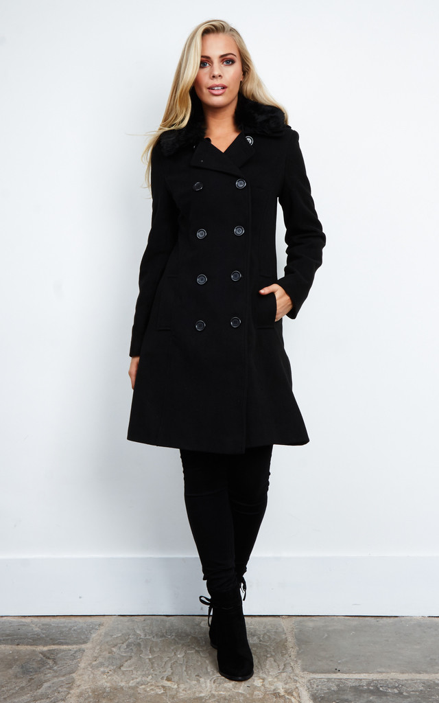 FAUX FUR LINED WINTER COAT by Aftershock London