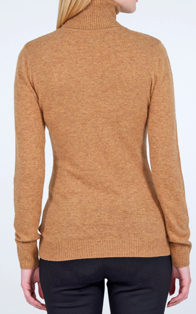Polo Neck jumper- Cinnamon by Lily and Carter London