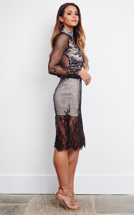 Love Triangle Lace Plunge Front by Love Triangle