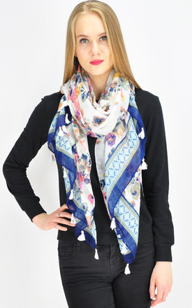 GK FLORAL PRINT WOVEN OVERSIZE SCARF by GOLDKID LONDON