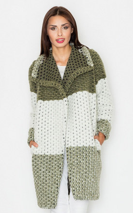 Green wool coat by FIGL
