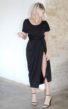 Black Marl Wrap by Never Fully Dressed