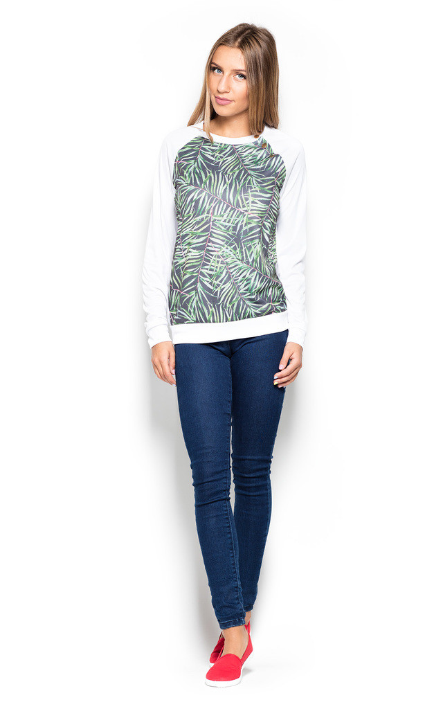 Green jungle print jumper by KATRUS