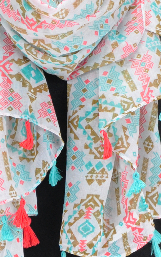 BIRD'S EYE TASSEL SCARF by GOLDKID LONDON