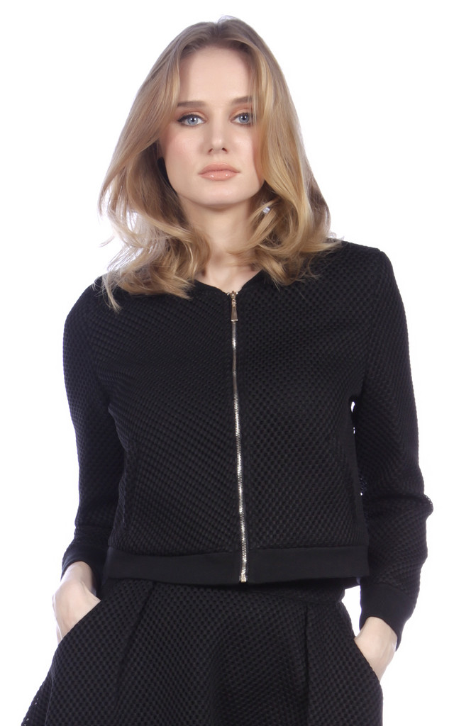 Mesh Bomber Jacket by Cutie London