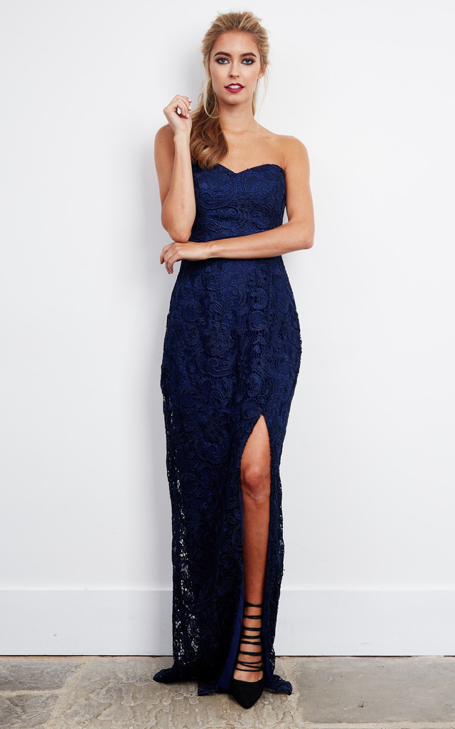Sweetheart Dress in Navy by D.Anna