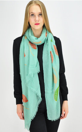 embroidered scarf in mint green by GOLDKID LONDON