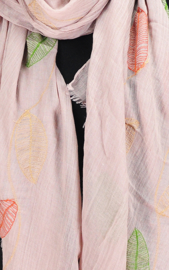 embroidered scarf in dusty pink by GOLDKID LONDON