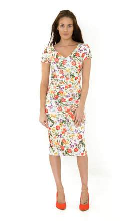 The Chloe Cream Floral Midi by Off the Catwalk