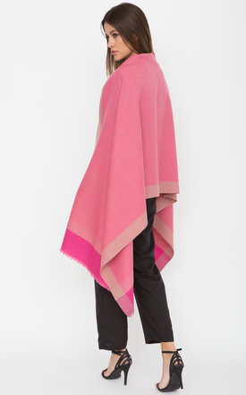 Herringbone Handwoven Textured Merino Wool Pashmina Scarf Pink by likemary