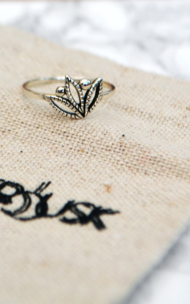 Desert Lily Sterling Silver Ring by Wanderdusk