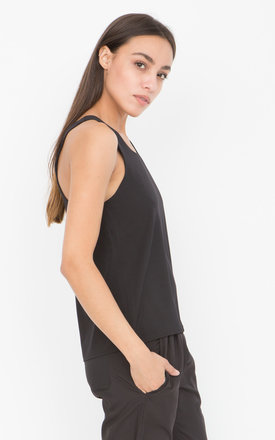 Racerback Cami Black by likemary