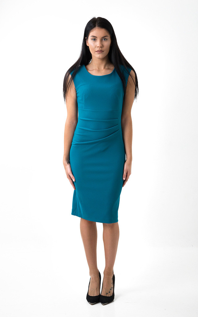 The Grace teal Midi by Off the Catwalk