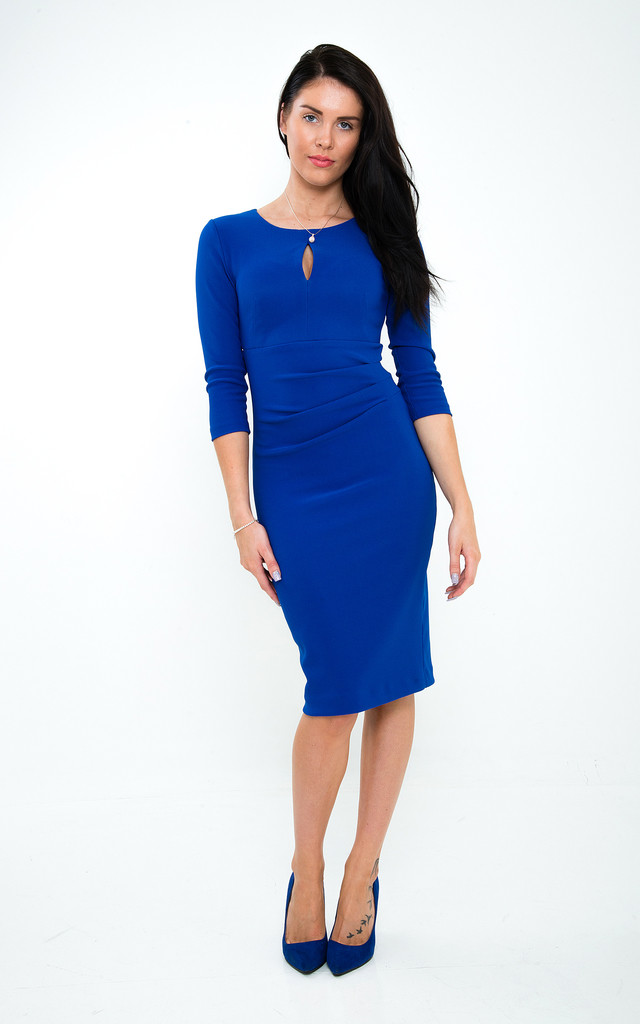 The Olivia Royal Blue Midi by Off the Catwalk