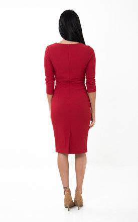 The Olivia Red Midi by Off the Catwalk