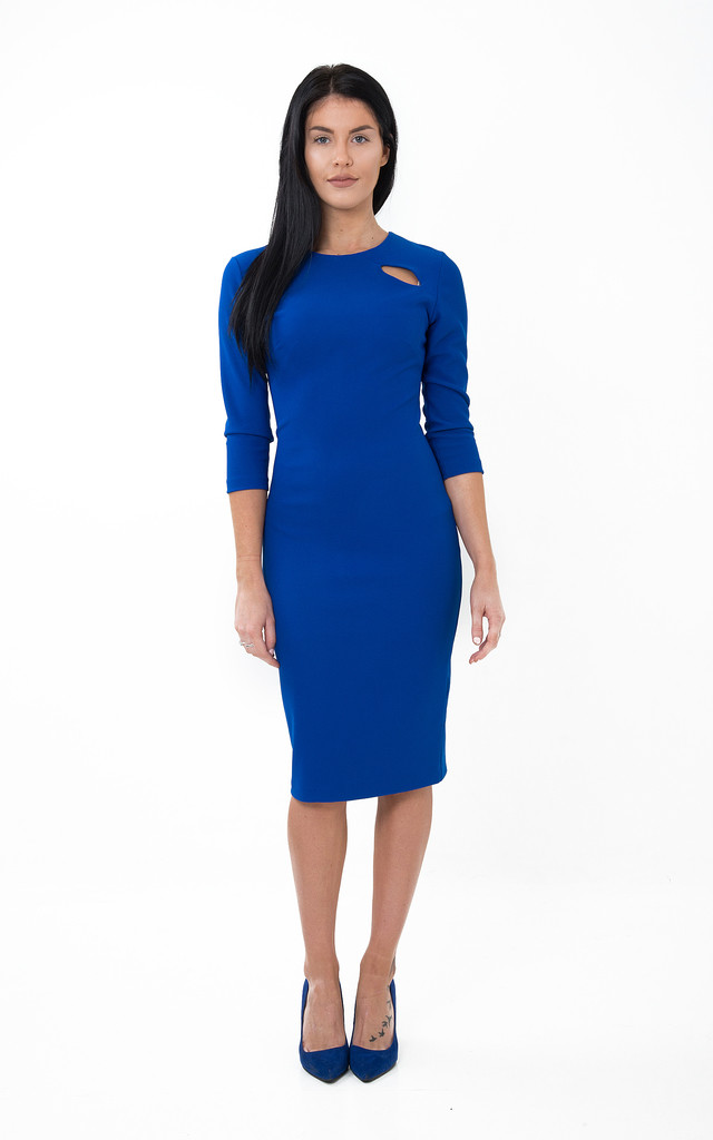 The Emily Royal Blue Midi by Off the Catwalk
