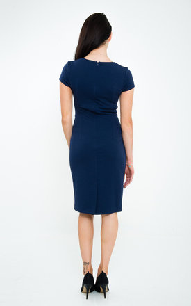 The Serena Navy Midi by Off the Catwalk