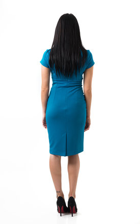 The Serena Teal Midi by Off the Catwalk