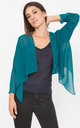 Sheer Chiffon Shrug Bolero Teal by likemary
