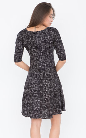 Polka Dot Smock Dress with 3/4 Sleeves by likemary