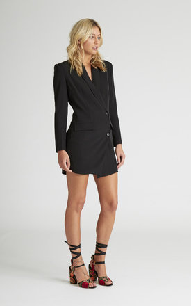 Isla Black Blazer Dress by UNIQUE21