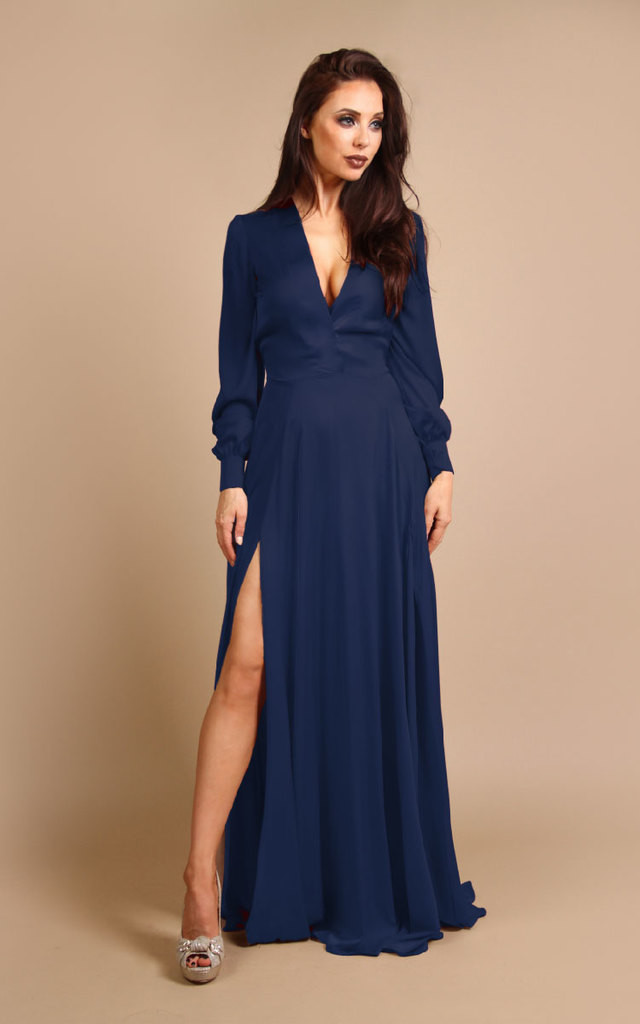 Willow Dress - Navy by Rebecca Rhoades