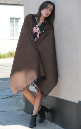 Handwoven Pashmina & Blanket Scarf in Spice Twill Mix Weave by likemary