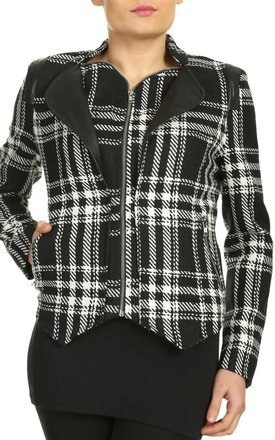 Black Double Layered Jacket by Cutie London
