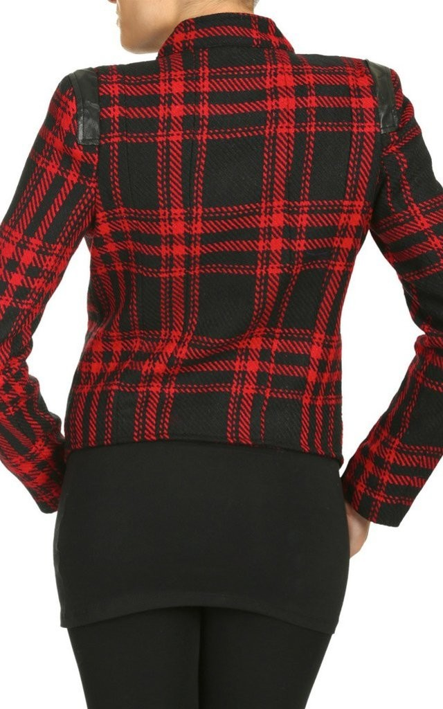 Red Double Layered Jacket by Cutie London