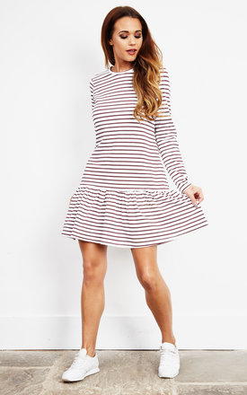Stripe Dropped Waist Short Dress by Noisy May Product photo