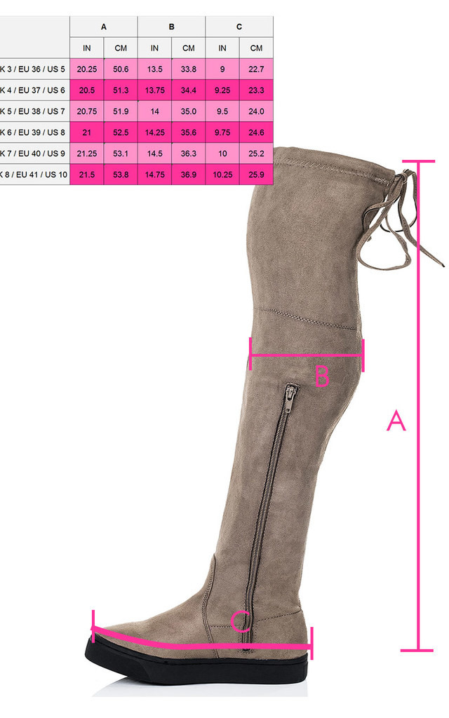 KAROO Lace Up Skater Sole Flat Over Knee Tall Boots - Brown Suede Style by SpyLoveBuy