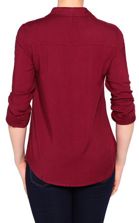 Burgundy Cotton Shirt by Jezzelle